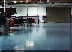 Ford Shop floor coated with CRU-Elite.