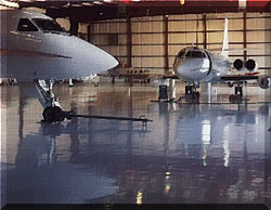 Airport Hanger coatinged with CRU-Elite!