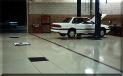 Nissan shop floor coated with CRU-Elite