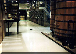 Winery floor coated with CRU-Elite